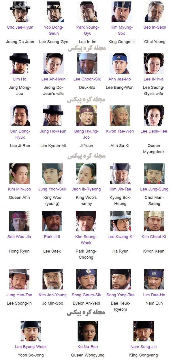 بیوگرافی همه بازیگران سریال افسانه سامبونگ